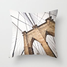 Brooklyn Bridge I Throw Pillow