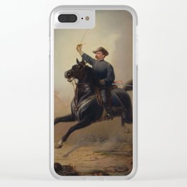 General Philip Sheridan's Ride Painting Clear iPhone Case