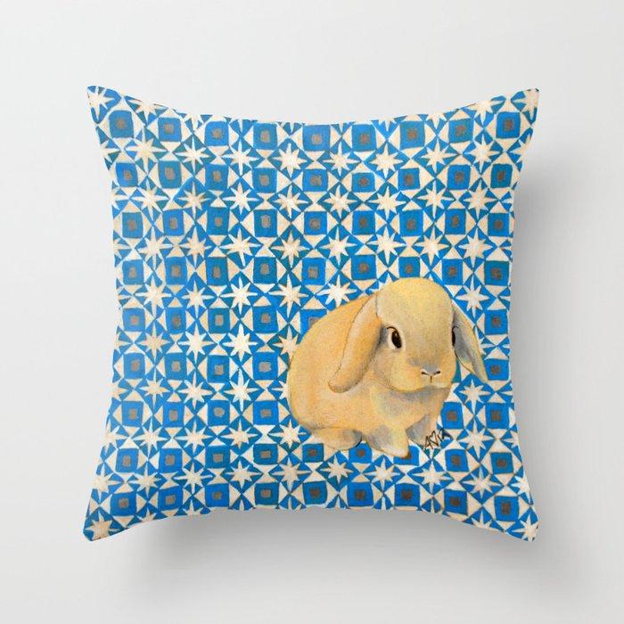 Charlie the Rabbit Throw Pillow
