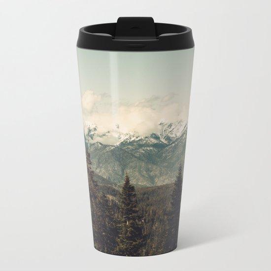 Snow capped Sierras Metal Travel Mug