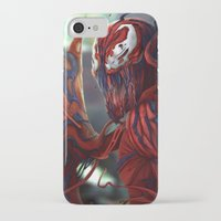carnage iPhone & iPod Cases featuring Carnage by corverez