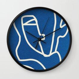 Abstract Minimal Woman Portrait Wall Clock