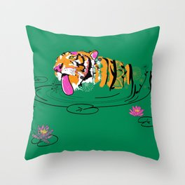 Tigar Lily Throw Pillow