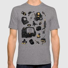 Artifacts: Fallout LARGE Tri-Grey Mens Fitted Tee