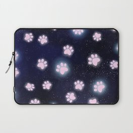 Glowing Galaxy Pawprints Laptop Sleeve