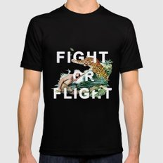 Fight or Flight MEDIUM Black Mens Fitted Tee