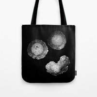 panic at the disco Tote Bags featuring Panic by Sarinya  Withaya