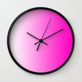 White and Pink Gradient 044 Wall Clock