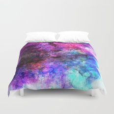 Purple Watercolor Duvet Cover