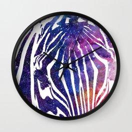 Galaxy Zebra Wall Clock