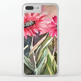 Beautiful Daisies Clear iPhone Case