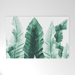 Underwater Leaves Vibes #2 #decor #art #society6 Welcome Mat