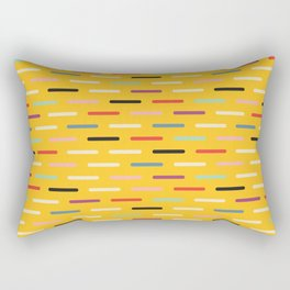 Modern Scandinavian Dash Multi Yellow Rectangular Pillow