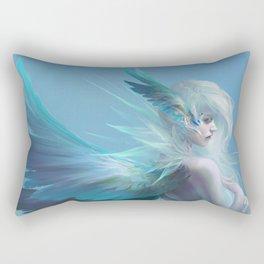Blue angel Rectangular Pillow