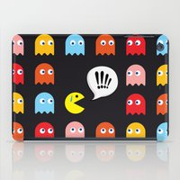 pac man iPad Cases featuring Pac-Man Trapped by Psocy Shop