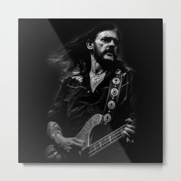 Lemmy - In the black Metal Print