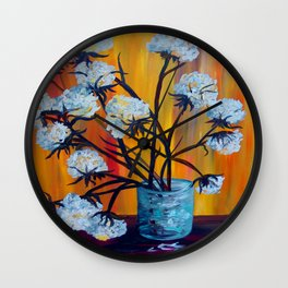 Bouquet of Cotton Wall Clock