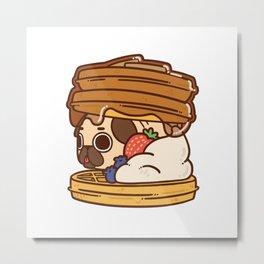 Puglie Waffles Metal Print