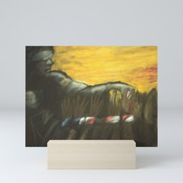 Justice Freeing Her Captives Mini Art Print