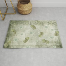 Sage Green Wallflowers Rug