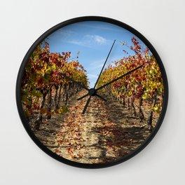 Fall Grape Vineyard Wall Clock