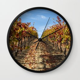 Fall Grape Vineyard Wall Clock