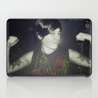 tegan and sara iPad Cases featuring Tegan by Virginie Le Guen-Bertheaume