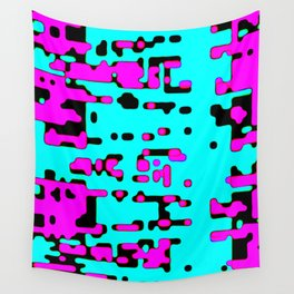 jitter, violet and blue 7 Wall Tapestry