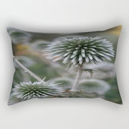 Macro Seed Head of Round Headed Garlic  Rectangular Pillow