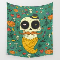 halloween Wall Tapestries featuring Halloween by ari-s