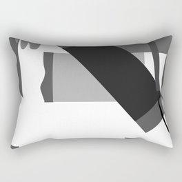 Matisse Inspired Black and White Collage Rectangular Pillow