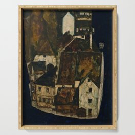 "Egon Schiele ""Dead City III (City on the Blue River III)"" Serving Tray"