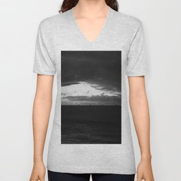 Oil And Water Don't Mix: Seascape of Santa Barbara 2016 Unisex V-Neck