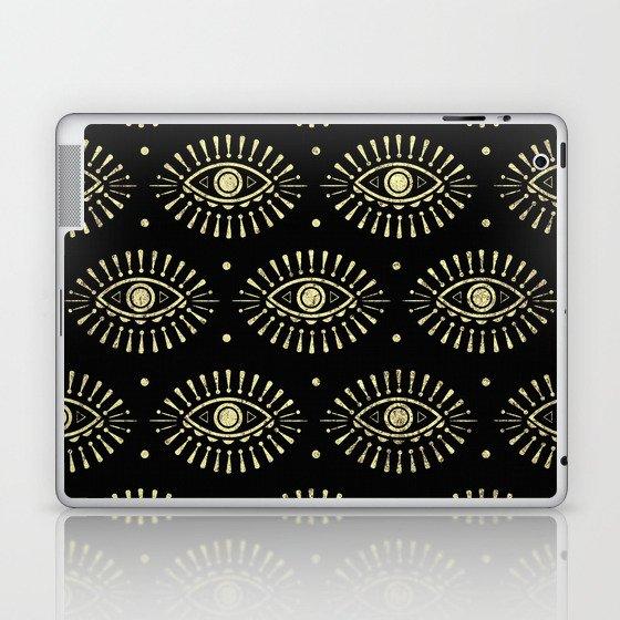 Golden Eyes Laptop & iPad Skin
