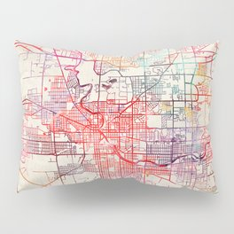 South Bend map Indiana painting Pillow Sham