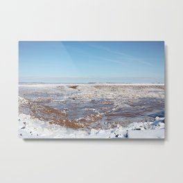 Snow on the Bay of Fundy Metal Print