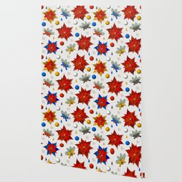Christmas Poinsettias Wallpaper