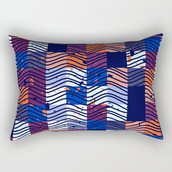 Square Wave Rectangular Pillow