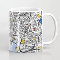 oslo Mugs featuring Oslo mondrian by Mondrian Maps