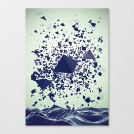 Fly geometry Canvas Print