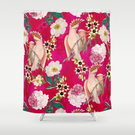 Vintage & Shabby Chic - Tropical Bird Flower Garden Shower Curtain