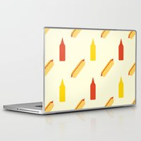 hot dog Laptop & iPad Skins featuring Hot dog by Will Wild
