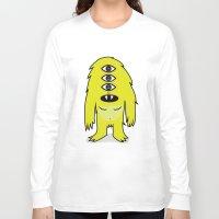 sasquatch Long Sleeve T-shirts featuring Alien Sasquatch by Zak Rutledge