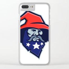 Warlock Stars on Beard Mascot Clear iPhone Case