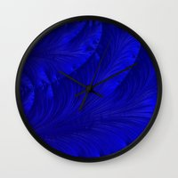 renaissance Wall Clocks featuring Renaissance Blue by Charma Rose