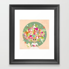 Blumenköpfchen Framed Art Print