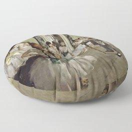 Edgar Degas - The Ballet Class Floor Pillow
