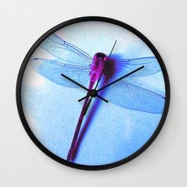 Iridescent Dragon Fly - Digital Photography Art Wall Clock