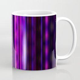 Glowing purple lines pattern Coffee Mug