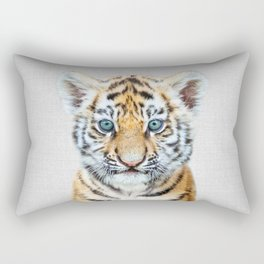 Baby Tiger - Colorful Rectangular Pillow